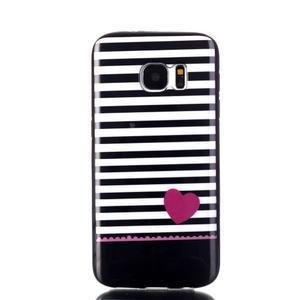 Sally gelový obal na Samsung Galaxy S7 - srdce - 1