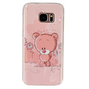 Gelový kryt na mobil Samsung Galaxy S7 - medvídek - 1