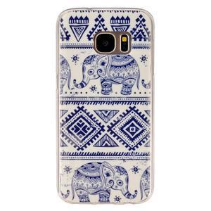 Gelový kryt na mobil Samsung Galaxy S7 - sloni - 1