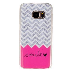 Gelový kryt na mobil Samsung Galaxy S7 - smile - 1