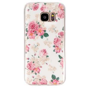 Gelový kryt na mobil Samsung Galaxy S7 - květiny - 1