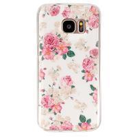 Gelový kryt na mobil Samsung Galaxy S7 - květiny - 1/4