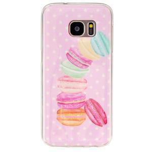 Gelový kryt na mobil Samsung Galaxy S7 - makrónky - 1