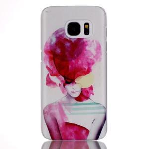 Plastový obal na mobil Samsung Galaxy S7 - dívka - 1