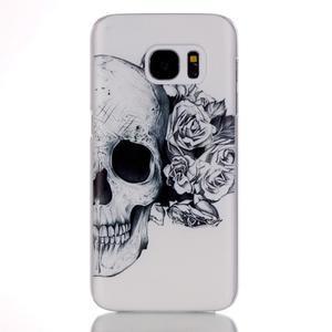 Plastový obal na mobil Samsung Galaxy S7 - lebka - 1