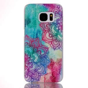 Plastový obal na mobil Samsung Galaxy S7 - mandala - 1