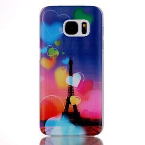 Plastový obal na mobil Samsung Galaxy S7 - Eiffelova věž - 1