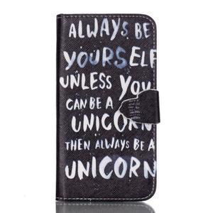 Cross peněženkové pouzdro na Samsung Galaxy S7 - unicorn - 1