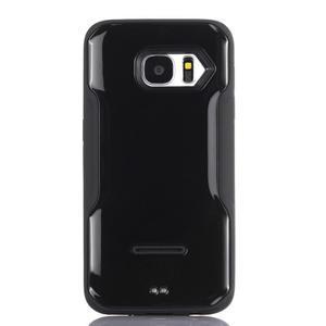 Odolný hybridní kryt na mobil Samsung Galaxy S7 - černý - 1