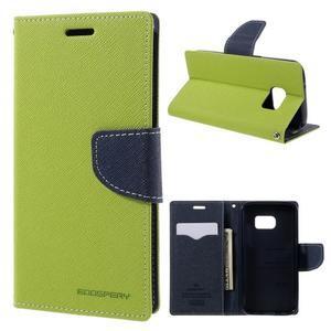 Goosper PU kožené pouzdro na Samsung Galaxy S7 - zelené - 1