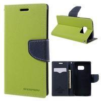 Goosper PU kožené pouzdro na Samsung Galaxy S7 - zelené - 1/7