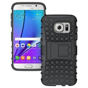 Outdoor odolný obal na mobil Samsung Galaxy S7 - černý - 1