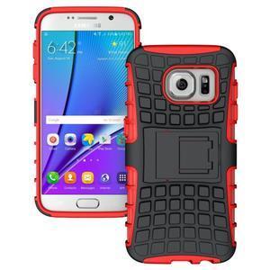 Outdoor odolný obal na mobil Samsung Galaxy S7 - červený - 1