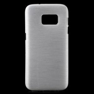 Brush gelový obal na mobil Samsung Galaxy S7 - bílý - 1