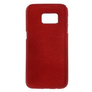 Brush gelový obal na mobil Samsung Galaxy S7 - červený - 1
