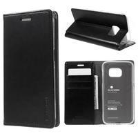 Bluemoon PU kožené pouzdro na mobil Samsung Galaxy S7 - černé - 1/7
