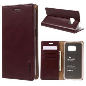 Bluemoon PU kožené pouzdro na mobil Samsung Galaxy S7 - tmavěčervené - 1