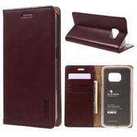 Bluemoon PU kožené pouzdro na mobil Samsung Galaxy S7 - tmavěčervené - 1/7