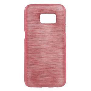 Brush gelový obal na mobil Samsung Galaxy S7 - růžový - 1