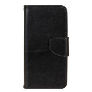 Stand peněženkové pouzdro na Samsung Galaxy S7 - černé - 1