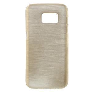 Brush gelový obal na mobil Samsung Galaxy S7 - zlatý - 1