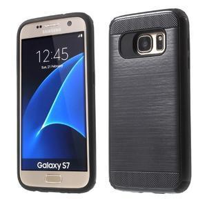 Dvoudílný odolný kryt na Samsung Galaxy S7 - černý - 1