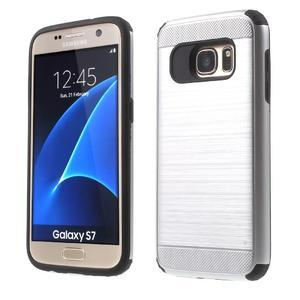 Dvoudílný odolný kryt na Samsung Galaxy S7 - stříbrný - 1