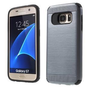 Dvoudílný odolný kryt na Samsung Galaxy S7 - šedý - 1
