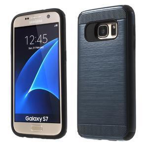 Dvoudílný odolný kryt na Samsung Galaxy S7 - tmavěmodrý - 1