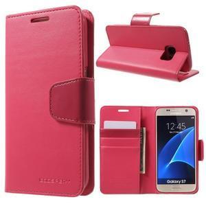 Sonata PU kožené pouzdro na Samsung Galaxy S7 - rose - 1