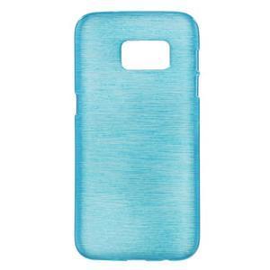Brush gelový obal na mobil Samsung Galaxy S7 - modrý - 1
