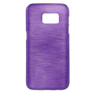 Brush gelový obal na mobil Samsung Galaxy S7 - fialový - 1