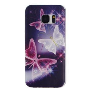 Pictu gelový obal na mobil Samsung Galaxy S7 - kouzelní motýlci - 1
