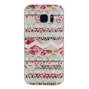 Pictu gelový obal na mobil Samsung Galaxy S7 - geo tvary - 1