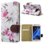 Flower pouzdro na mobil Samsung Galaxy S7 - bílé pozadí - 1/7