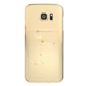 Swarovski plastový obal s kamínky na Samsung Galaxy S7 - vážky - 1