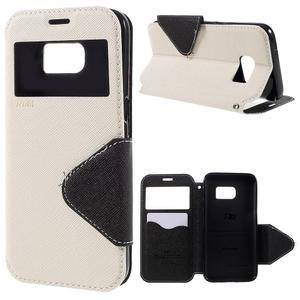 Diary pouzdro s okýnkem na Samsung Galaxy S7 - bílé - 1