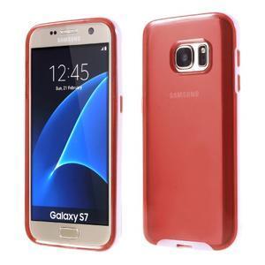 Dvoudílný obal na mobil Samsung Galaxy S7 - červený - 1