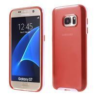 Dvoudílný obal na mobil Samsung Galaxy S7 - červený - 1/6