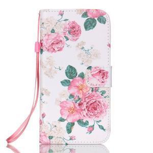 Květinové peněženkové pouzdro na Samsung Galaxy S7 Edge - 1
