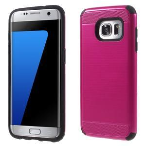 Odolný dvoudílný obal na Samsung Galaxy S7 edge - rose - 1