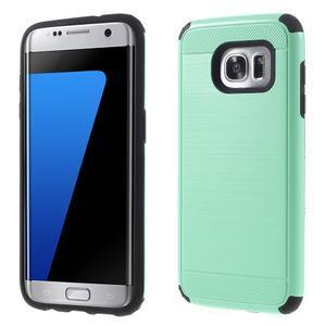 Odolný dvoudílný obal na Samsung Galaxy S7 edge - azurový - 1
