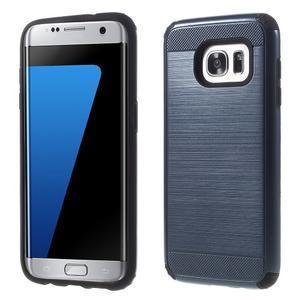 Odolný dvoudílný obal na Samsung Galaxy S7 edge - tmavěmodrý - 1