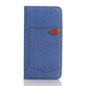 Jeans pouzdro na mobil Samsung Galaxy S7 edge - modré - 1