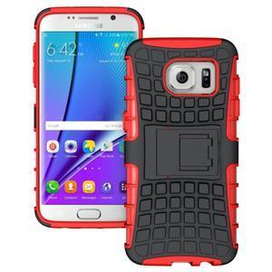Odolný outdoor kryt na Samsung Galaxy S7 edge - červený - 1