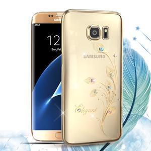 Swarovski plastový obal s kamínky na Samsung Galaxy S7 Edge - elegant