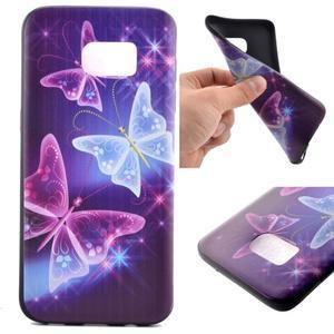 Backy gelový obal na Samsung Galaxy S7 edge - kouzelní motýlci - 1