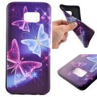Backy gelový obal na Samsung Galaxy S7 edge - kouzelní motýlci - 1/6