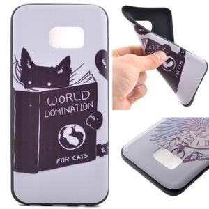Backy gélový obal pre Samsung Galaxy S7 edge - mačka - 1