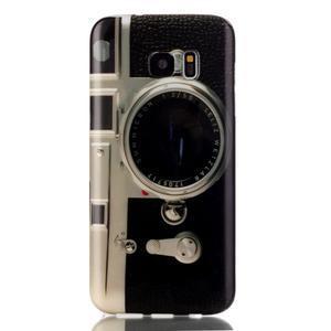 Softy gelový obal na Samsung Galaxy S7 edge - retro foťák - 1